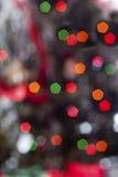 De lichten van Bokehkerstmis stock foto's