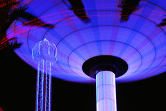 De Lichten van Carnaval van de nacht stock afbeelding