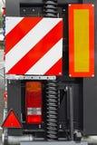De lichten van de aanhangwagen Stock Foto