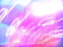 De lichten van de avond Stock Afbeeldingen