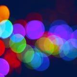 De lichten van de Bluredstad Stock Foto