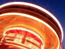 De Lichten van de carrousel Stock Fotografie