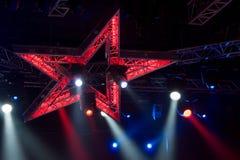 De lichten van de disco Stock Foto's
