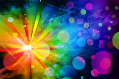 De lichten van de disco Stock Afbeelding