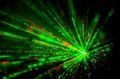 de lichten van de discolaser Stock Foto