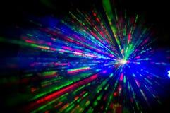 de lichten van de discolaser Stock Afbeelding