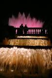 De Lichten van de fontein Royalty-vrije Stock Foto's