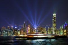 De Lichten van de Haven van Hongkong Royalty-vrije Stock Afbeelding