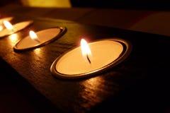 De lichten van de kaars Royalty-vrije Stock Foto