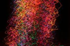 De lichten van de kerstboom stock foto's