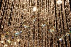 De lichten van de kroonluchter Stock Foto