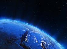 De lichten van de Midden-Oostenstad Stock Afbeelding