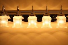 De lichten van de muur Stock Foto's