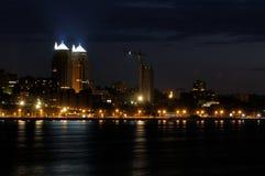 De lichten van de nacht stock fotografie