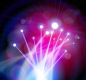 De Lichten van de Optica van de vezel vector illustratie