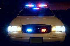 De Lichten van de politiewagen stock fotografie