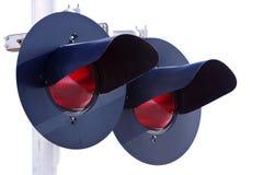 De lichten van de spoorweg Royalty-vrije Stock Foto's