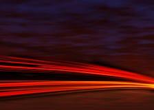 De lichten van de staart bij nacht Stock Afbeelding