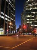 De Lichten van de stad Stock Foto's