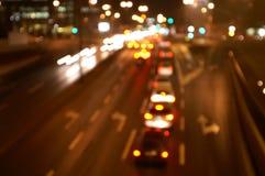 De lichten van de stad Royalty-vrije Stock Afbeeldingen