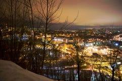 De Lichten van de Stad van de nacht Royalty-vrije Stock Fotografie