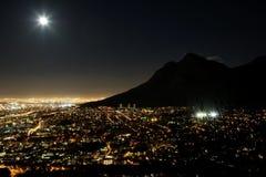 De Lichten van de Stad van Kaapstad Royalty-vrije Stock Foto's