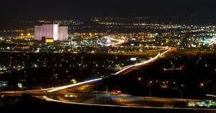 De Lichten van de Stad van Reno stock foto's