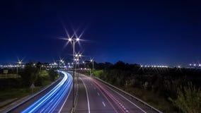 De lichten van de stadssleep Stock Fotografie