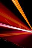 De lichten van de tunnel Stock Afbeelding