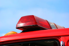 De Lichten van de Vrachtwagen of van de Ziekenwagen van de brand Stock Foto