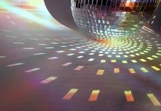 De lichten van Discoball stock afbeelding