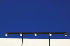 De lichten van het aanplakbord Stock Foto's