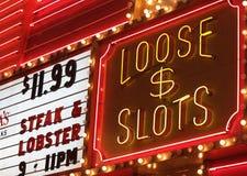 De lichten van het casino Stock Afbeeldingen