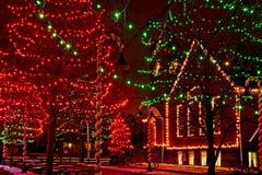 De lichten van het Dorpskerstmis van Ohio royalty-vrije stock fotografie