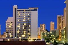 De Lichten van het hotel Stock Afbeeldingen