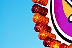 De lichten van het kermisterrein Stock Foto's