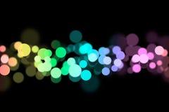 De lichten van het onduidelijke beeld Stock Fotografie