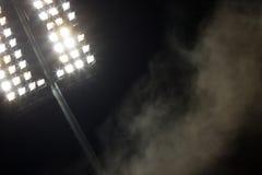 De lichten van het stadion Stock Foto