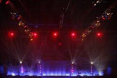 De lichten van het stadium Stock Foto