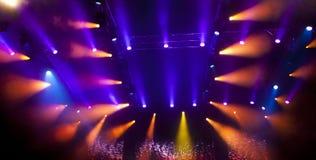 De lichten van het stadium Stock Fotografie
