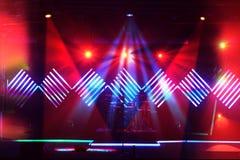 De Lichten van het stadium met LEIDEN Ontwerp Stock Foto's
