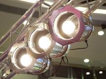 De Lichten van het stadium op Bundel Stock Foto
