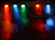 De lichten van het theater Stock Foto
