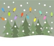De lichten van Kerstmis stock illustratie