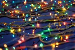 De lichten van Kerstmis Royalty-vrije Stock Afbeeldingen