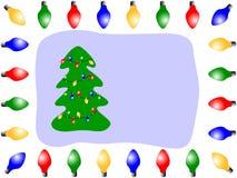 De Lichten van Kerstmis vector illustratie