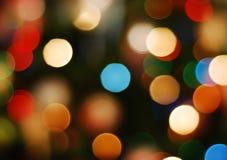 De lichten van Kerstmis stock afbeelding