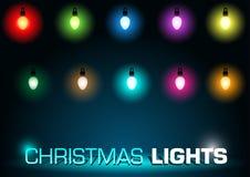 De Lichten van Kerstmis Royalty-vrije Stock Fotografie