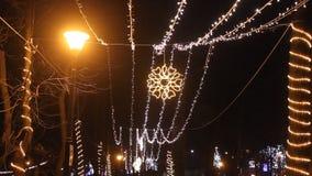 De Lichten van Kerstmis stock video