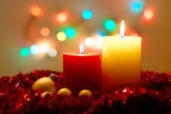 De Lichten van Kerstmis stock afbeeldingen